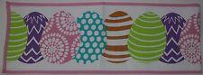 Easter Newbridge White with Multi Color Eggs Table Runner 13x70 in NWT