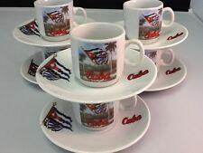 2 oz Cuban Espresso coffee cup set. 12 pc cup and saucer. Cuban Flag Land Tacita