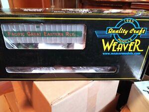 Weaver 50' flat car w/trailer Pacific Great Eastern RLY