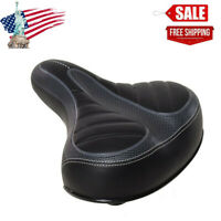 Comfort Wide Big Thicken Bike Bicycle Cruiser Sporty Soft Saddle Seat New