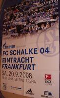 Spieltag Plakat / Poster + FC Schalke 04 vs Eintracht Frankfurt + 20.09.2008 +