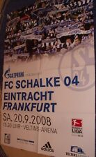 Match Day Poster/Posters + FC Schalke 04 VS EINTRACHT FRANKFURT + 20.09.2008 +