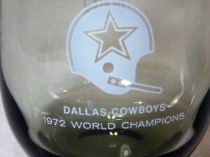Dallas Cowboys 1972 World Champions High Ball Bar Glass NFL Football LOT of 2