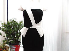 ladies black and white cocktail dress size 10
