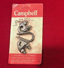 "Campbell 767-5109 1/8"" Wire Rope Clips With Thimbles New Old Stock"