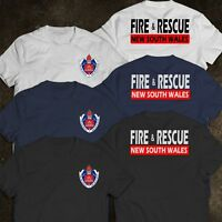 New South Wales Firefighter Fire Department Rescue Rare AUSTRALIA Logo T-Shirt