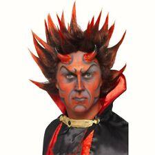 Devil Punky Wig Red Black Fancy Dress Costume Accessory Mens