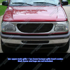 Fits 1999-2001 Ford Explorer Black Billet Grille Grill Combo Insert
