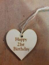 Handmade Wooden Gift Tags - 21st Birthday