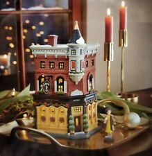 Dept 56 Christmas in the City Welcoming Christmas! Lit Candles in Windows