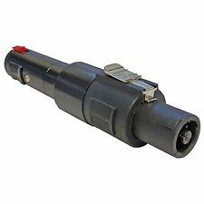 KEEPDRUM ADA037 Speakon-Adapter 6,35mm Klinke-Buchse zu Speakon Stecker