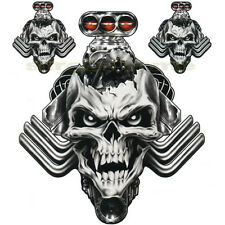 DECAL GRAPHIC for MOTORCYCLE WINDSCREENS ENGINE SKULL CAR evil vampire biker