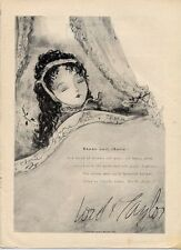 1952 Lord & Taylor Fashion Soft Wool by Dorothy Liebes Art PRINT AD