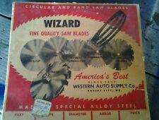 Vintage Wizard Western Auto Saw Blade.