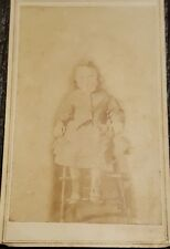 1800s Photograph CDV Cabinet Card  - Child in high chair Dress