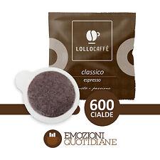 600 Cialde Caffè Lollo Classico Espresso Gusto e Passione in carta ESE 44mm