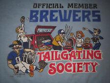 Vtg 1985 Milwaukee Brewers MLB County Stadium Tailgating T-shirt XL   Rare  d70c58dbb