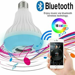 High Quality Wireless RGB E27 B22 LED Bluetooth Music Play Speaker Light Bulb UK