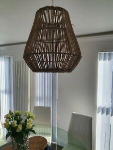 Rattan Grey Basket Lampshades ceiling Lamp Home Bedroom Side Lamp 45x45 cm dia