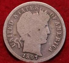 1897-S San Francisco Mint Silver Barber Dime