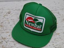 Vintage gree New Trail travel Center Trucker Snapback Cap Hat new condition