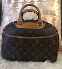 Подлинные, бывшие в употреблении Louis Vuitton Трувиль ручная сумка монограмма холст