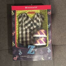 """American Girl 18"""" Doll Z Yang Easy Breezy Outfit- Polo Top Pants Shoes Headband"""