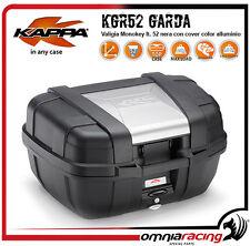 Kappa KGR52 Garda - Valigia Monokey / Bauletto Nero con Cover Color Alluminio