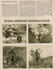1967 Fallbrook, CA - Iron Wheel Motocross - 1-Page Vintage Motorcycle Article
