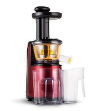 Extracteur de jus vertical 150w  rotation lente slow juicer acier inox rouge