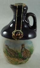 Montrose Potteries Miniature Decanter Featuring Game Birds
