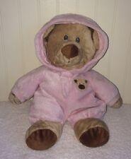 Ty Pajama Bear Tylux Brown Teddy Pink Pjs Plush Stuffed Toy 2010 Beanbag Bottom