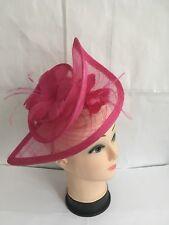 Señoras Sombrero Fascinator de la Boda De Flores De Raso Royal Ascot Diadema Clip Reino Unido