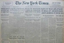 TROTSKY DIES OF WOUNDS 8-1940 August 22 WWII GERMANS ATTACKS SHIPS IRISH SEA