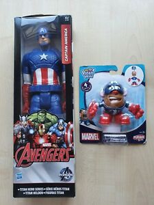 BNIB unopened Captain America Titan Hero Series and Mr Potato Head Marvel Avenge