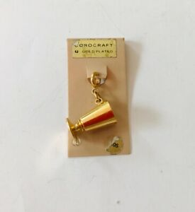 Gold Plated Charm of a Drinking Cup by Corocraft good quality tone