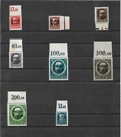 Bayern 1919, Einzelmarken aus Michelnrn: 152 - 170, 173 A, postfrisch **,Auswahl