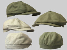 Beige and olive green 8 panel bakerboy,newsboy,peaky blinder 1920s summer flat c