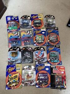 Lot Of 16 Winners Circle Racing Champion Muscle Machines 1:64 Die Cast Nascar
