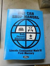 Nos 1981 Ford Ltd Crown Victoria Grand Marquis Body Electrical Shop Manual