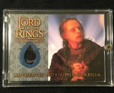WORMTONGUE's Velvet MEMORABILIA The Two Towers MINT TOPPS Authenticated