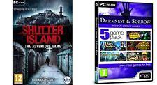 Finsternis und Trauer - 5 Game Pack & Shutter Island NEU & VERSIEGELT