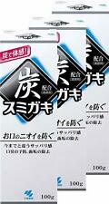 3SET KOBAYASHI seiyaku SUMIGAKI Charclean Charcoal Power Toothpaste 100g