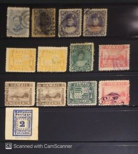 1800's Old Hawaii Stamps Mint Used