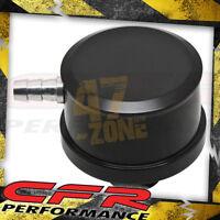 Chevy/Ford/Mopar Black Billet Aluminum Breather W/ Pcv Valve - Smooth