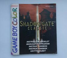 Shadowgate Classic - Gameboy Color - instruction booklet manual