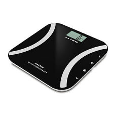 Salter 180kg Ultimate Accuracy Digital Body Fat Analyser Bathroom Scales - Black