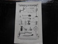 1905. publicité appareils eclairage Gardrat (lampe boulangerie).