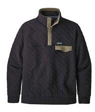 Patagonia Men's Organic Cotton Quilt Snap-T Pullover Black