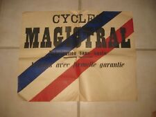 * affiche publicitaire cycles velo MAGISTRAL